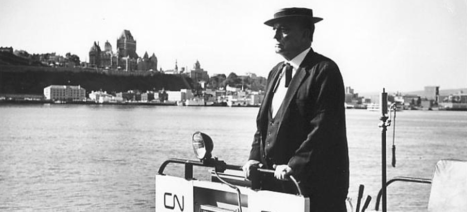 Buster Keaton rides the rails in Canada