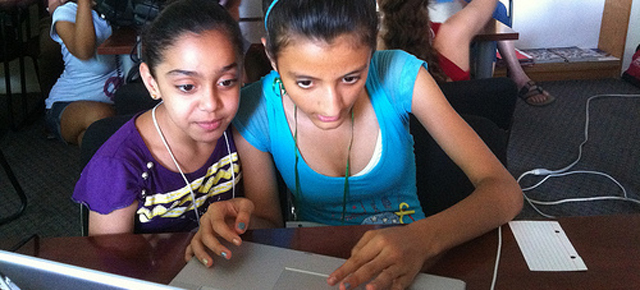 Girls Learning Code at HIGHRISE