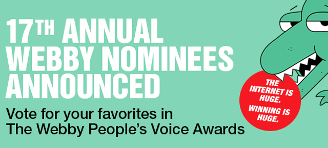6 Webby Award Nominations for NFB/interactive