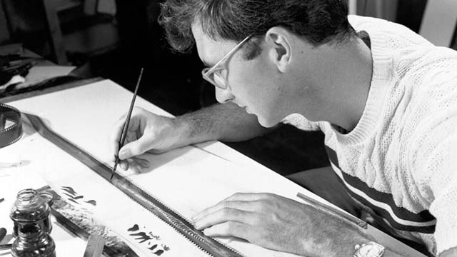 Norman McLaren working