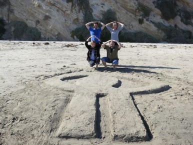 NFB animators make the logo on California beach!