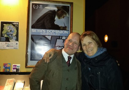 Luc Chamberland and producer Marcy Page after OIAF14 screening