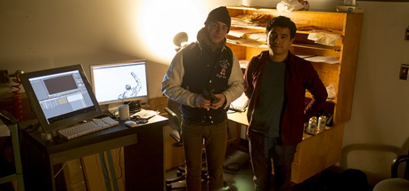 Neal Moignard and Benjamin Mugica posing