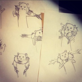 Alexandra Lemay's first character sketches.