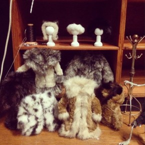 Tiny, tiny expensive fur costumes. No animals were injured in the making of this film!