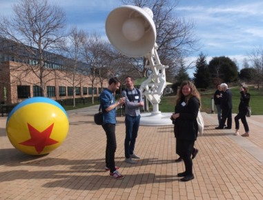 Filmmakers among oversized sculptures inspired by Luxo Jr (Photo: Marcy Page)