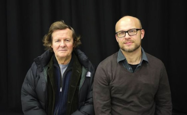 Sir David Hare with director Cam Chistiansen