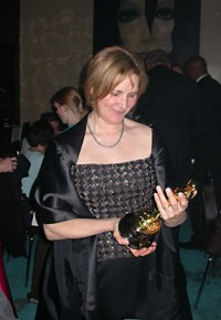 Marcy Page admires the RYAN Oscar®