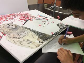 Students work Debris blog